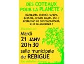 """Réunion """"Des coteaux pour la Planète"""""""