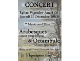 Concert de musique classique à l'église de Vigoulet-Auzil